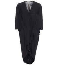 Rick Owens Batwing Jersey Blouse Black