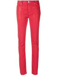 Alyx Slim Fit Trousers Cotton Spandex Elastane Red