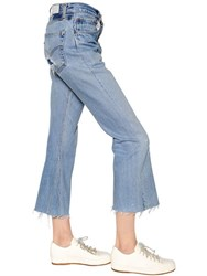 Re Done Cropped Cut Off Vintage Denim Jeans