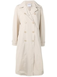 Aspesi Double Breasted Trench Coat Neutrals