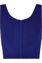 Ohne Titel Cropped Stretch Knit Top Blue