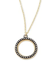 Armenta Old World Champagne Diamonds 18K Yellow Gold And Sterling Silver Round Pendant Necklace