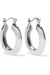 Iris And Ink Ameera 18 Karat White Gold Plated Sterling Silver Hoop Earrings Silver