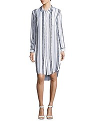 Rails Jessie Striped High Low Shirtdress Blue