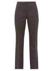 Alexander Mcqueen Straight Leg Tailored Wool Flannel Trousers Light Grey