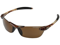Tifosi Optics Seek Polarized Tortoise Athletic Performance Sport Sunglasses Brown