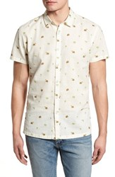 Kahala Hale Niu Trim Fit Linen Blend Camp Shirt Natural