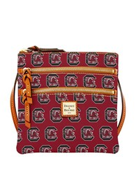 Dooney And Bourke University Of South Carolina Gamecocks Triple Zip Crossbody Bag Red