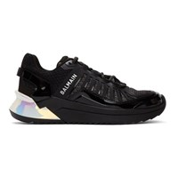 Balmain Black And Silver B Trail Sneakers
