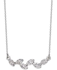 Inc International Concepts Silver Tone Pave Leaves Necklace Only At Macy's