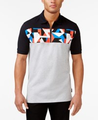 Sean John Abstract Print Polo