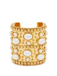 Sylvia Toledano Wonder Byzance Brass And Pearl Cuff