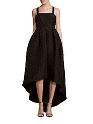 Cynthia Rowley Sleeveless High Low Hem Ball Gown Black