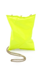 Anya Hindmarch Crisp Packet Neon Yellow