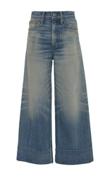 Brock Collection Selvage Beatrice Wide Leg Jeans Medium Wash