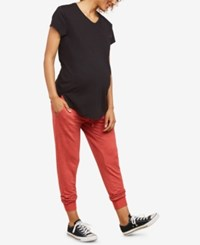 Motherhood Maternity Under Belly Jogger Pants Red