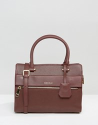 Modalu Leather Mini Tote Bag Claret Red