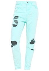 Your Turn Jeans Tapered Fit Turquoise