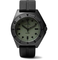 Bamford Watch Department Mayfair Stainless Steel And Rubber Green