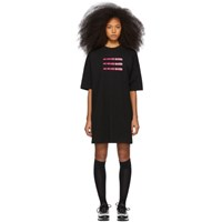 Marcelo Burlon County Of Milan Black 'He Never Cared' Quote Dress