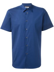 Ps Paul Smith Shortsleeved Shirt Blue