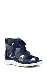 Nine West Women's Veedah Strappy Sandal Navy Fabric
