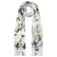Kaliko Outline Floral Scarf Green