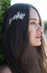 Brides And Hairpins Olivia Jeweled Hair Clip Classic Silver