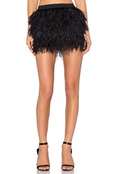Mason By Michelle Mason Feather Mini Skirt Black