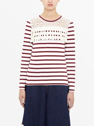 See By Chloe Long Sleeved Striped T Shirt White