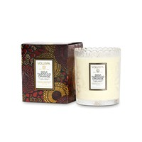 Voluspa Japonica Limited Edition Scalloped Candle Goji And Tarrocco Orange