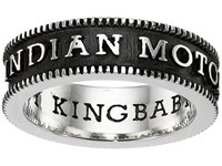 King Baby Studio Indian Motorcycle Logo Coin Edge Band Silver