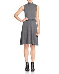 Design History Mock Neck Sweater Dress Wallstreet Grey