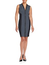 T Tahari Sleeveless Colorblock Dress Charcoal Heather