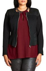City Chic Plus Size Women's Sweet Elastic Ponte Jacket