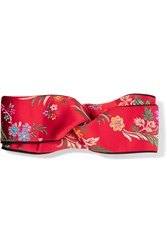 Gucci Twisted Jacquard Headband Red