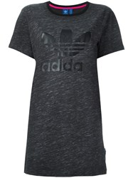 Adidas Originals Trefoil Logo T Shirt Dress Grey