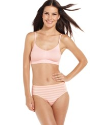 Jockey Seamless Crop Top Bra 2404 Pink Shadow