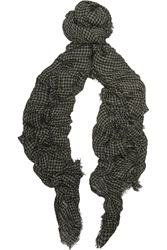 Tomas Maier Over Dyed Vichy Checked Modal Scarf