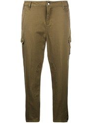 Twin Set Cropped Cargo Trousers Green