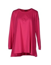Charlott Long Sleeve T Shirts Fuchsia