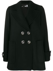 Love Moschino Embellished Button Double Breasted Jacket Black
