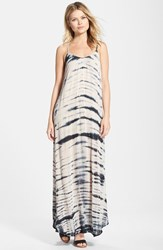 Women's Fraiche By J Tie Dye A Line Maxi Dress Black Taupe