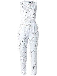 Andrea Marques All Over Print Jumpsuit White