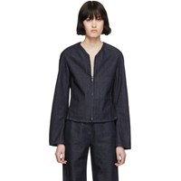 Christophe Lemaire Ssense Exclusive Navy Fitted Zip Jacket