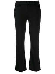 J Brand Cropped Bootcut Trousers Black
