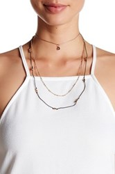 Stephan And Co 3 Row Cord Necklace Black