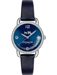 Coach 14502668 Delancey Stainless Steel And Leather Watch