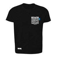 Anchor And Crew Noir Black Digit Print Organic Cotton T Shirt