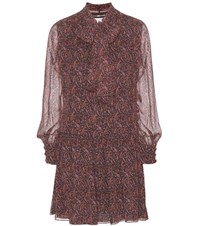 Saint Laurent Paisley Silk Dress Multicoloured